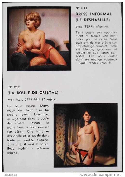 CARTE De PRESENTATION D'ARTISTES NUES De FILMS EROTIQUES - PARIS FILMS - Bon état - Cinema Advertisement