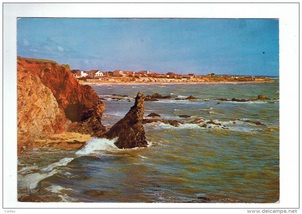 6159  Cpm BRETIGNOLLES SUR MER  : Cote De La Parée - Au 1er Plan , Rocher De Sainte Véronique    ACHAT DIRECT !! - Bretignolles Sur Mer