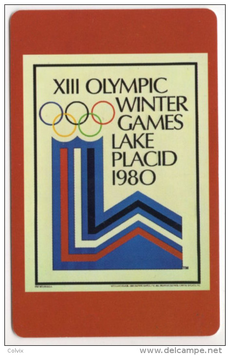 CARTE MAGNETIQUE MUSEE OLYMPIQUE LAUSANNE Au RECTO XIII JEUX OLYMPIQUE D'HIVER LAKE PLACID 1980 - Other Collections