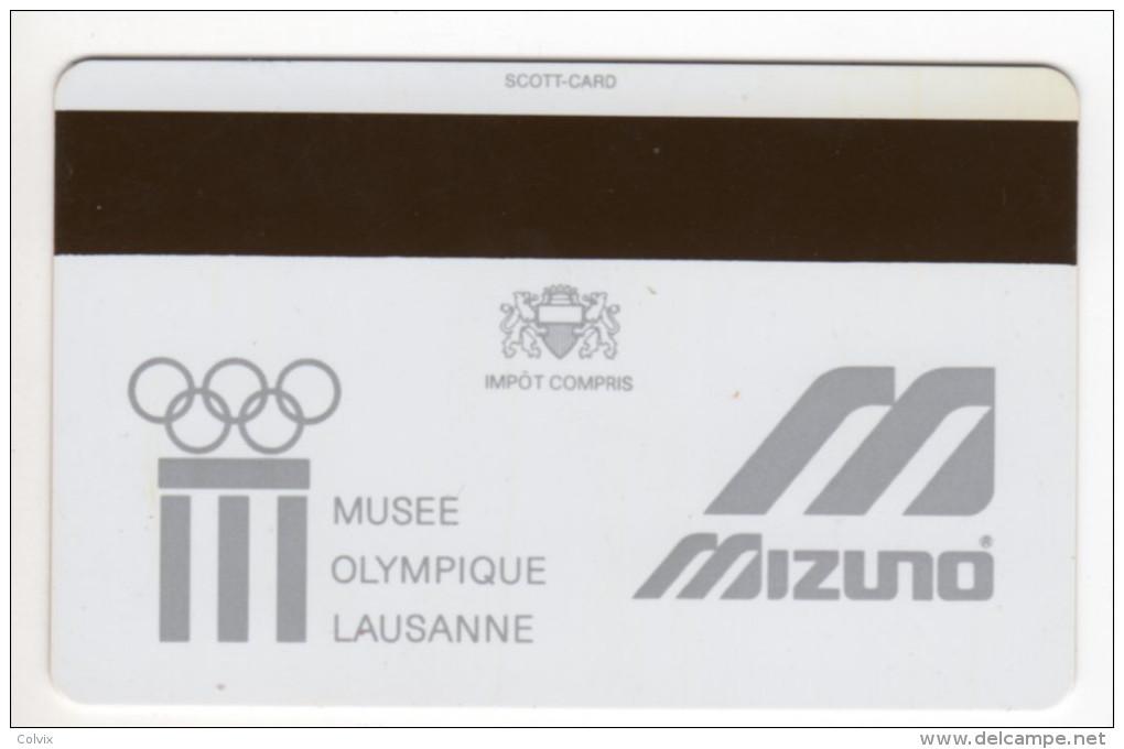CARTE MAGNETIQUE MUSEE OLYMPIQUE LAUSANNE Au RECTO XIII JEUX OLYMPIQUE D'HIVER LAKE PLACID 1980 - Other