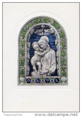Firenze - Cartolina MADONNA DEGLI ARCHITETTI Di ANDREA DELLA ROBBIA, Bargello - PERFETTA L63 - Sculture