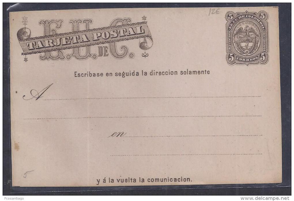 COLOMBIA  . TARJETA POSTAL. PRECIO€12 - Colombia