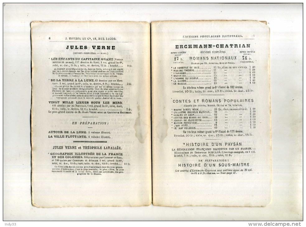 - CATALOGUE J. HETZEL & CIE . 1872 . - Livres, BD, Revues