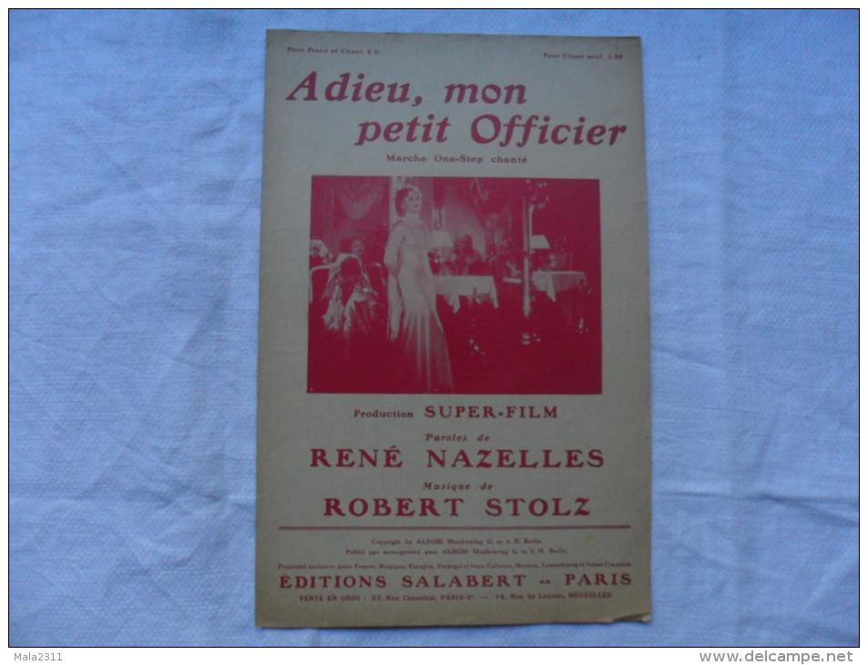 ANCIENNE PARTITION / ONE STEP  CHANTE / ADIEU MON PETIT OFFICIER - Musique & Instruments