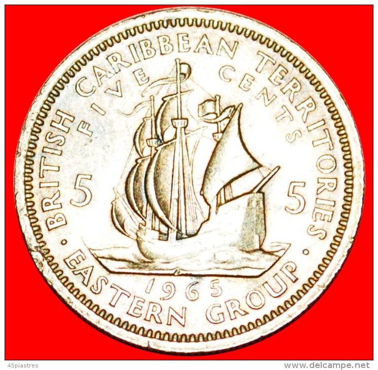 ★SHIP Of Sir Francis Drake (1542-1596): EAST CARRIBEAN TERRITORIES★ 5 CENTS 1965!  LOW START★ NO - Territoires Britanniques Des Caraïbes