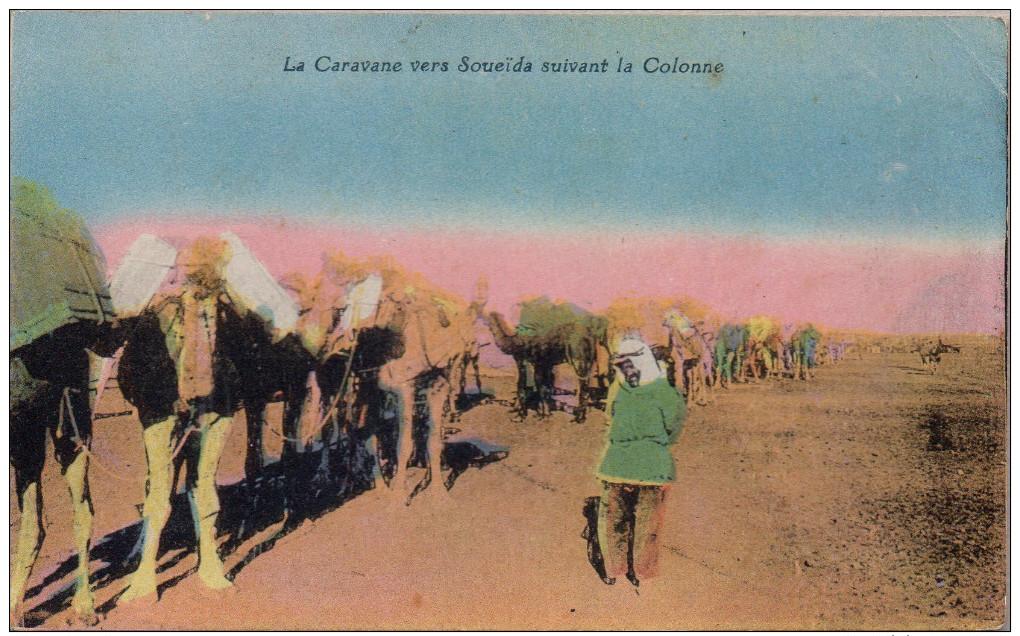 La Caravanne Vers Soueïda Suivant La Colonne - Syrië