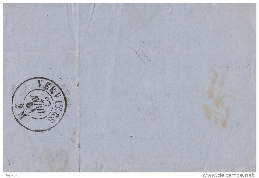 Briefstück Dix Cent Verviers 27.4.64 - Belgien
