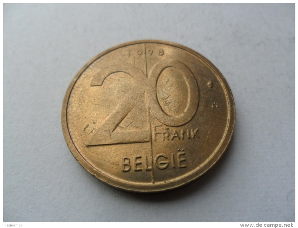 20 Francs 1998 Albert II En Néerlandais - 04. 20 Francs