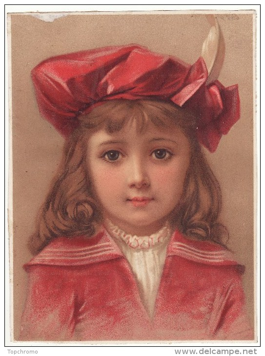 Grande CHROMO Buste Enfant Fille Fillette Chapeau - Unclassified