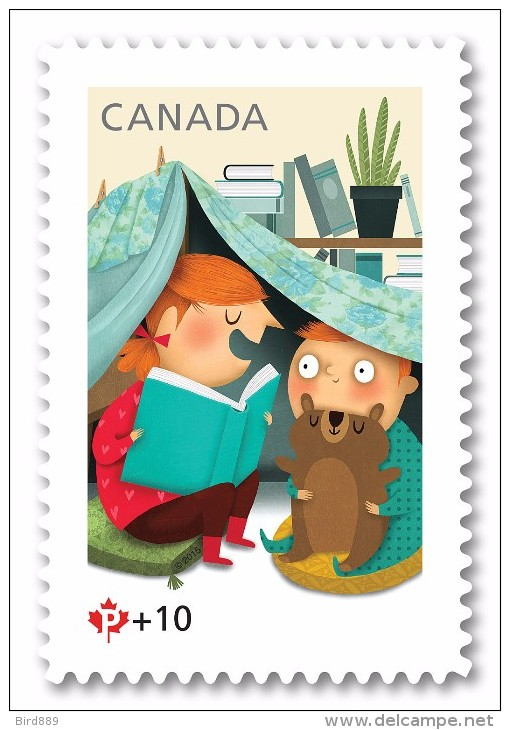 2015 Canada Community Foundation Semi-postal Toy Story Bear Tent Single Stamp From Booklet MNH - Neufs