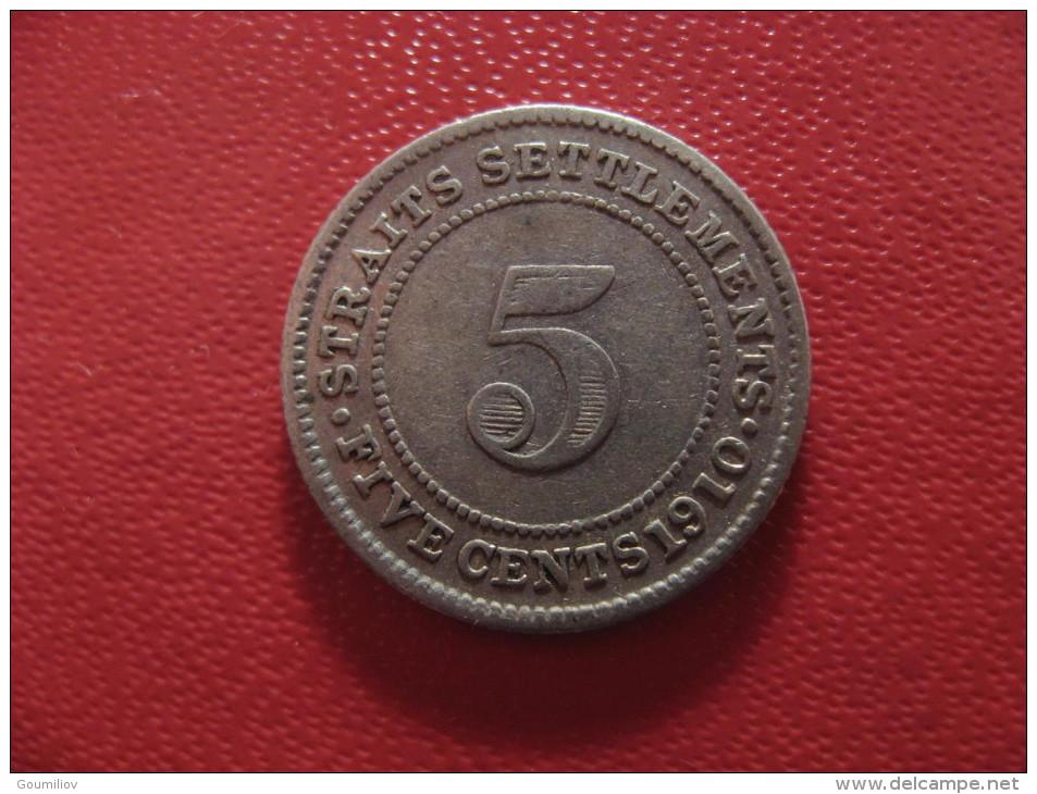 Straits Settlements - 5 Cents 1910 Edward VII 1646 - Malaysia