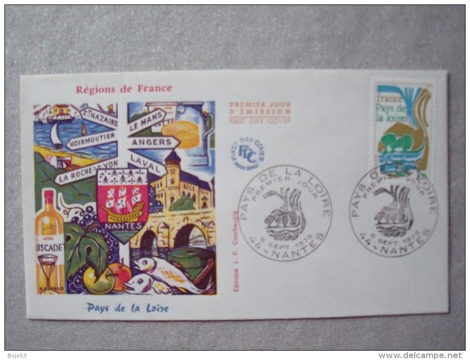44 NANTES -  1er Jour  Pays De Loire 06-09-1975 - Cachets Commémoratifs