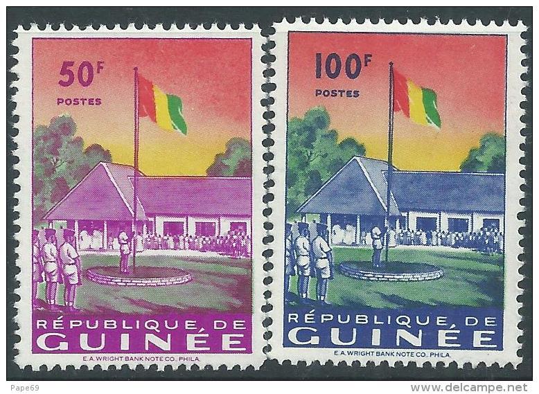 Guinée  N° 23 / 26  XX  Admission  Aux Nations-Unies, Les 4  Valeurs Sans Charnière, TB - Guinea (1958-...)