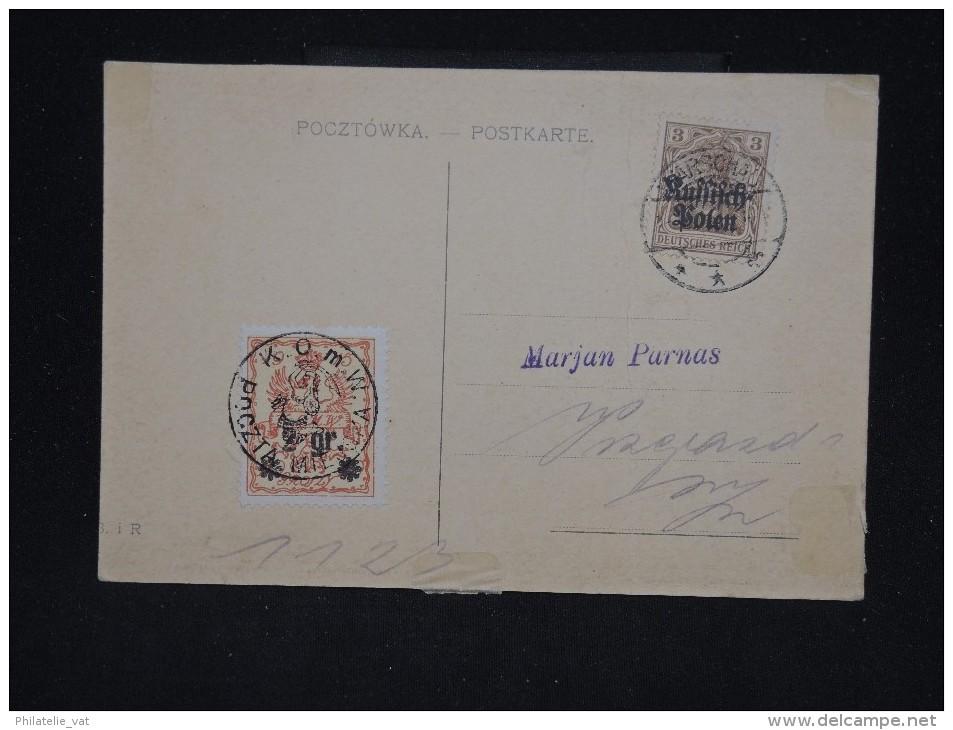POLOGNE - Cp De La Poste Locale De Varsovie En 1915 -  Aff. Plaisant - A Voir - Lot P10589 - ....-1919 Gouvernement Provisoire