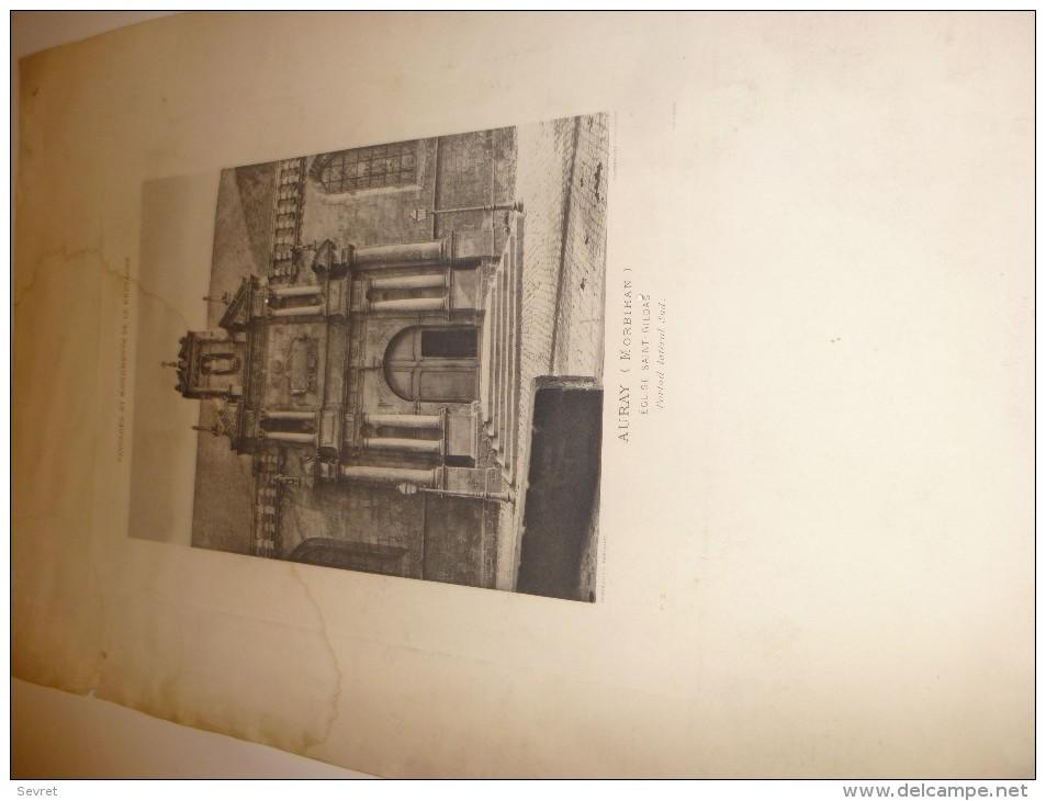AURAY -  Morbihan - Paysages Et Monuments De Bretagne Jules Robuchon..Gravure Eglise Saint Gildas. - Documents Historiques