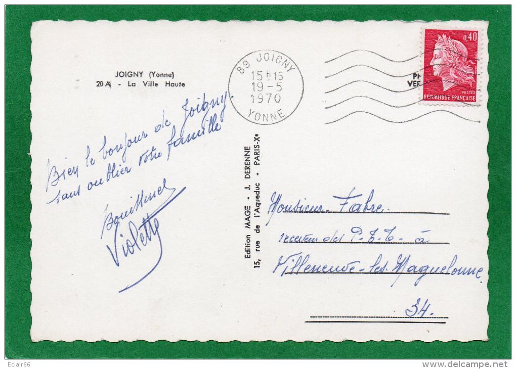 89 JOIGNY LA VILLE HAUTE  Le Bord Du Canal Les Pêcheurs CPSM  Grd Format Année 1970  EDIT  MAGE .J DERENNE - Joigny