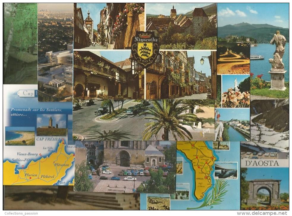 LOT DE 240 CARTES POSTALES , CPM , Bon état  , FRAIS DE PORT France : 19.50€ - 100 - 499 Cartes
