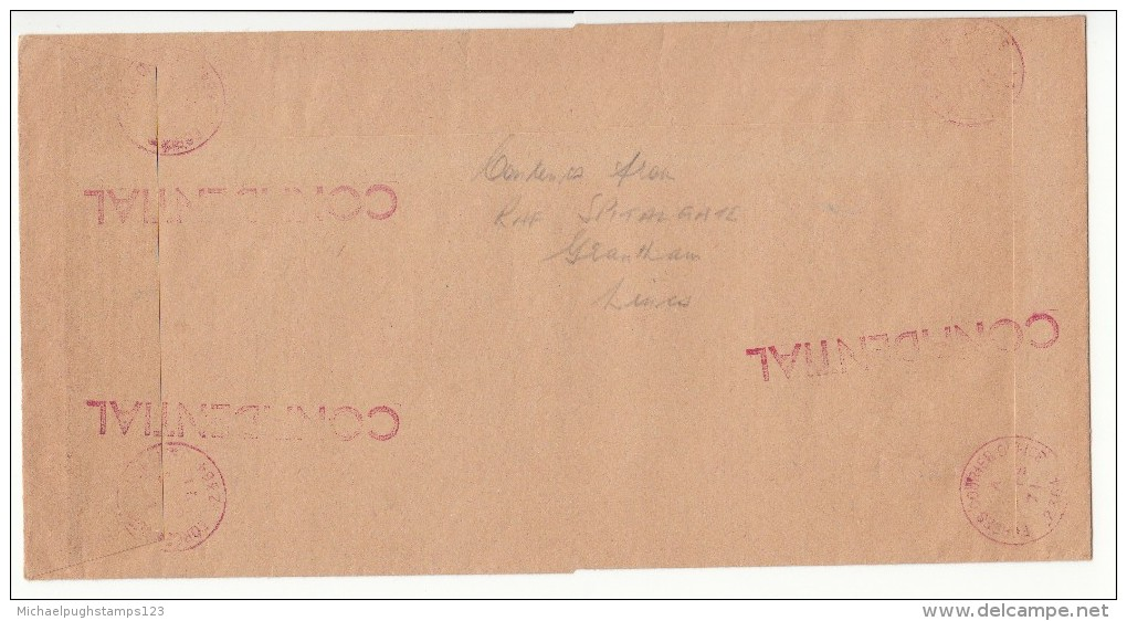 G.B. / Military Mail / R.A.F. / Forces Couries Service / 1971 Strike Mail - Unclassified