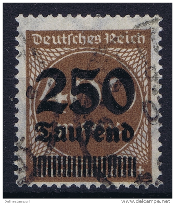 Dt Reich Mi Nr 294    Gestempelt/used Obl.  Infla Signed/ Signé/signiert/ Approvato - Germania