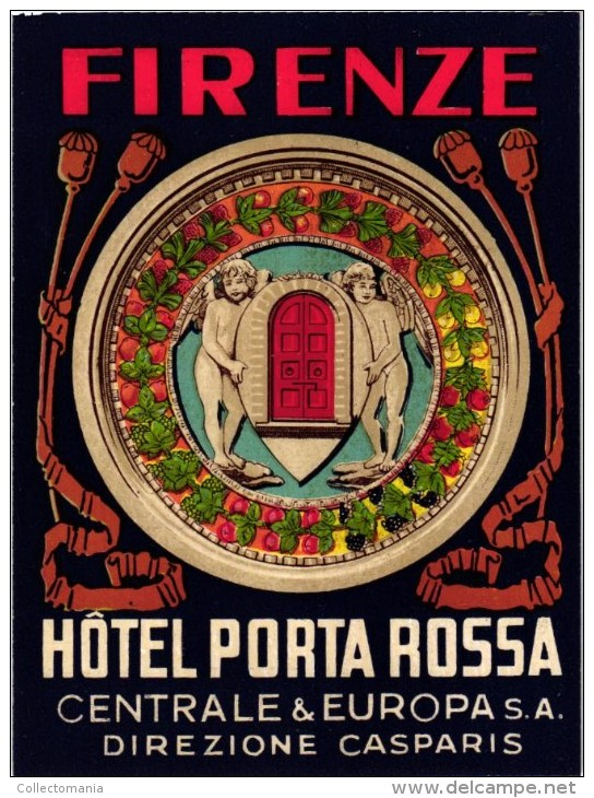3 Hotel Labels ITALY ITALIE   FIRENZE   FLORENCE   Plaza Lucchesi  Porta Rossa Albergio Delle Nazioni - Hotel Labels