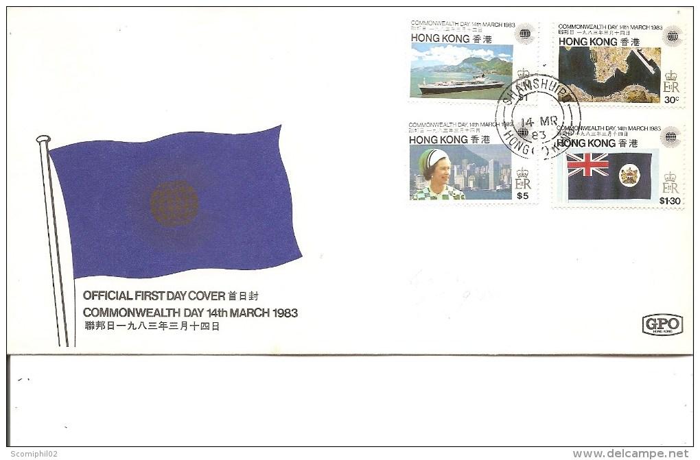 Hong-Kong -Journée Du Commonwealth ( FDC De 1983 à Voir) - Hong Kong (...-1997)