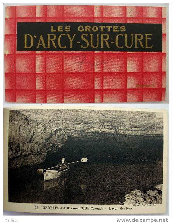 89 - Carnet - Les Grottes D´ARCY SUR CURE - 7 Cartes Sur 10 - France