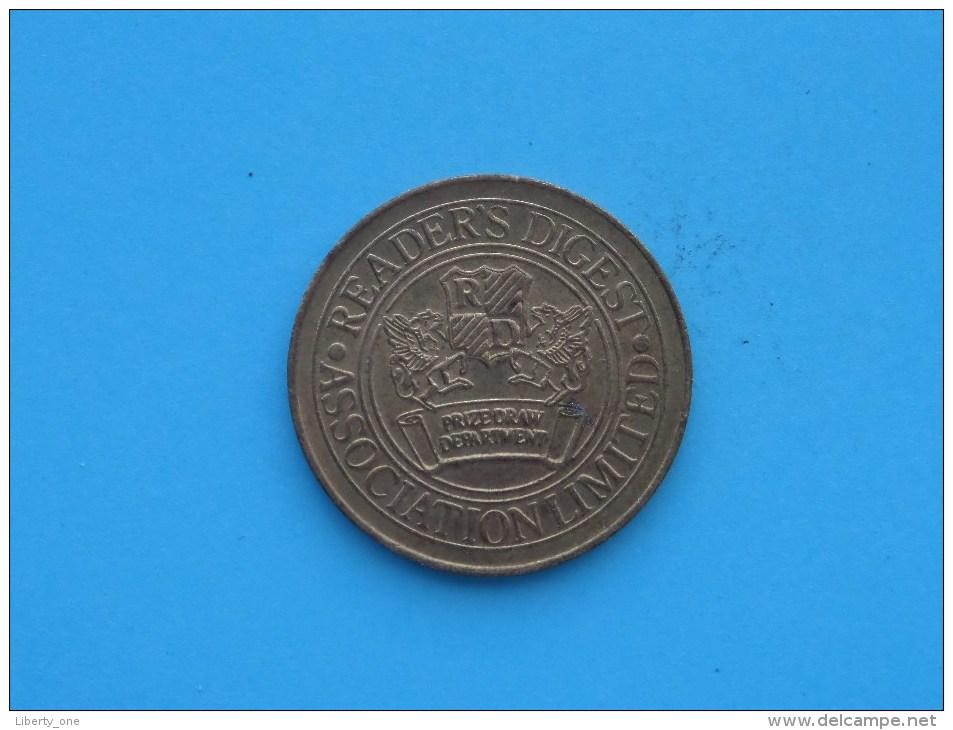 READER´S DIGEST Token / Jeton ( 31 Mm. / 9,6 Gr. Koperkleur - For Grade, Please See Photo ) ! - Jetons & Médailles