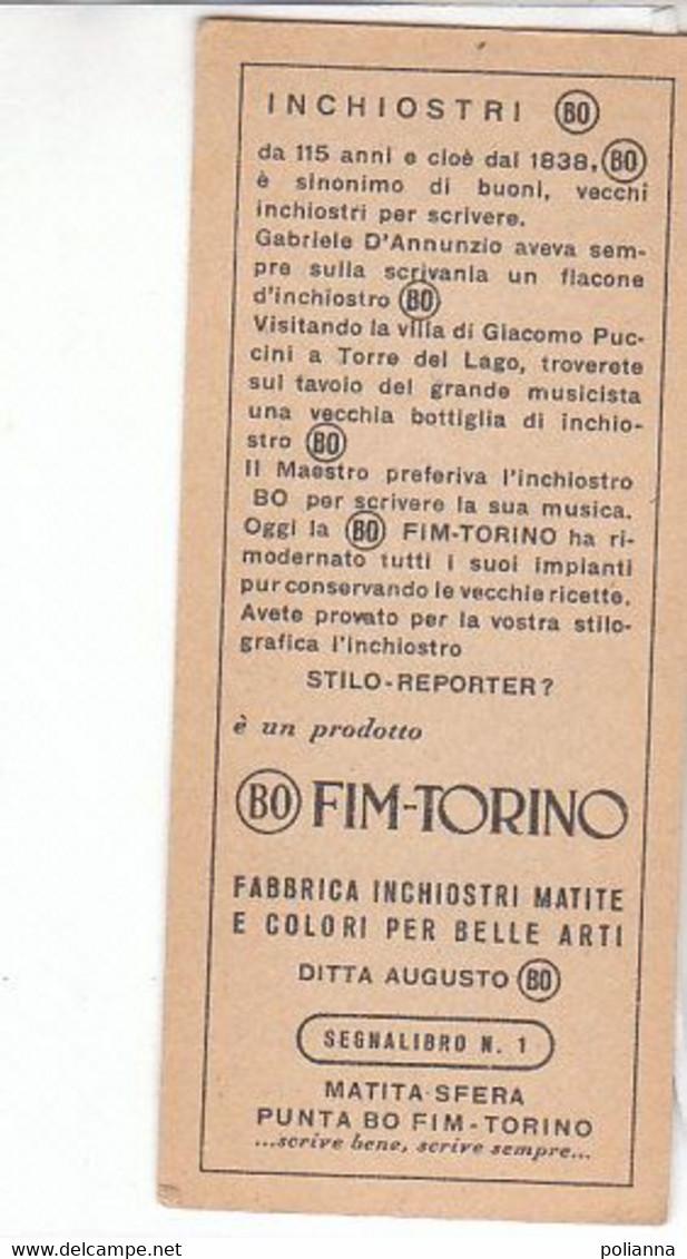 PO3028D# SEGNALIBRO - FIABA - FRAGOLINA - Fabbrica Inchiostri-Matite Ditta Augusto FIM-TORINO - Segnalibri