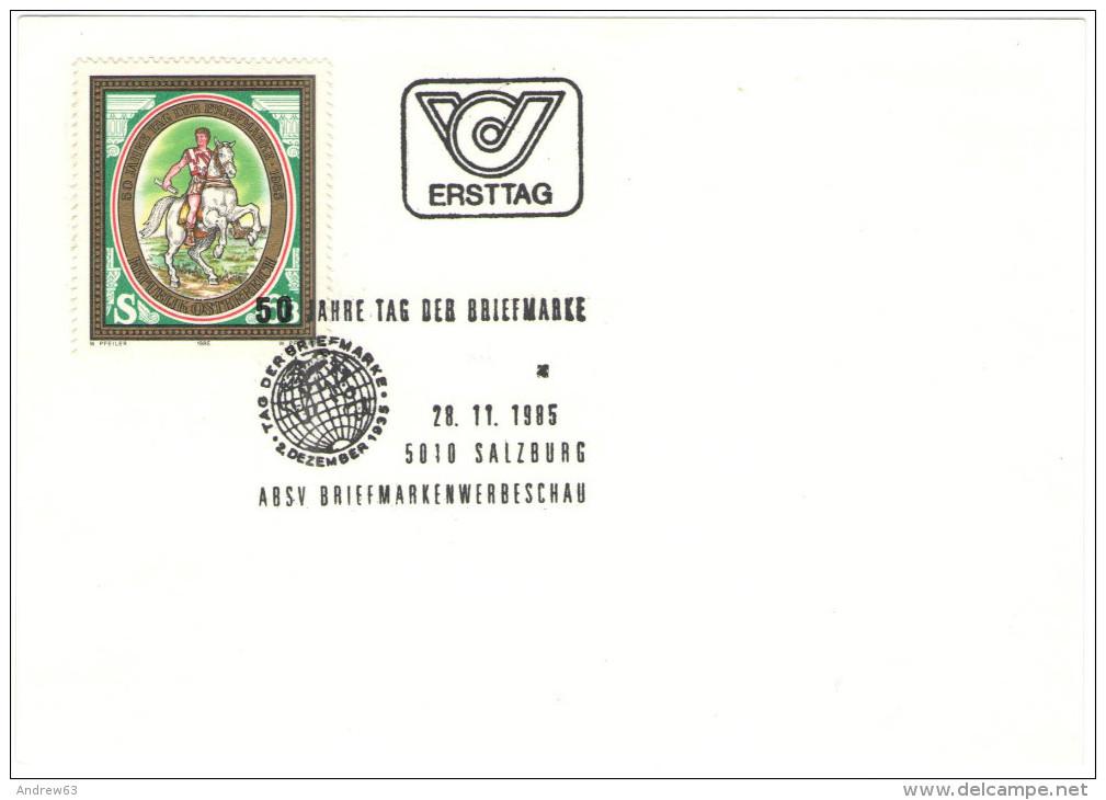 AUSTRIA - ÖSTERREICH - AUTRICHE - 1985 - 50 Jahre Tag Der Briefmarke - Salzburg - FDC - FDC