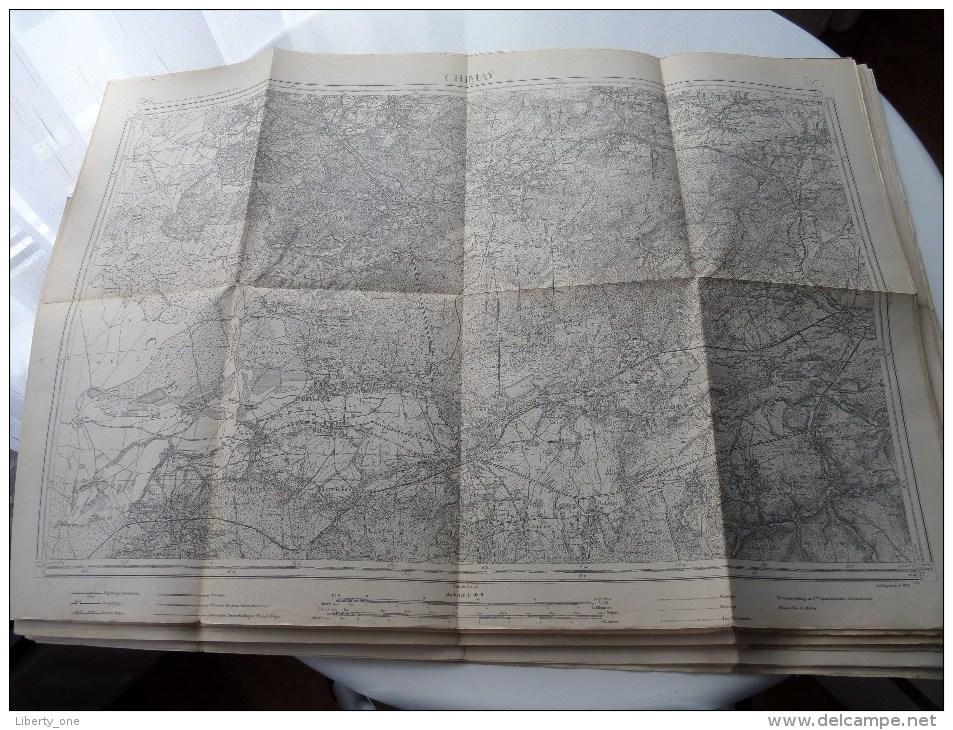 CHIMAY ( 57 ) Belgien Categorie Stafkaart 1:60.000 ( Kaarten Uit Verzameling / Formaat 60 X 42 Cm. ) Zie Foto´s ! - Europe