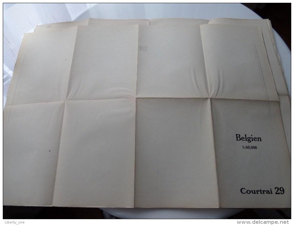 COURTRAI ( 29 ) Belgien Categorie Stafkaart 1:60.000 ( Kaarten Uit Verzameling / Formaat 60 X 42 Cm. ) Zie Foto´s ! - Europe