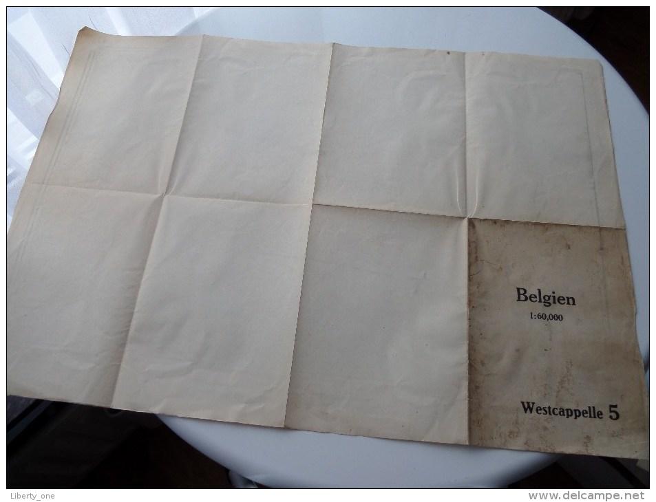 WESTCAPPELLE ( 5 ) Belgien Categorie Stafkaart 1:60.000 ( Kaarten Uit Verzameling / Formaat 60 X 42 Cm. ) Zie Foto´s ! - Europe