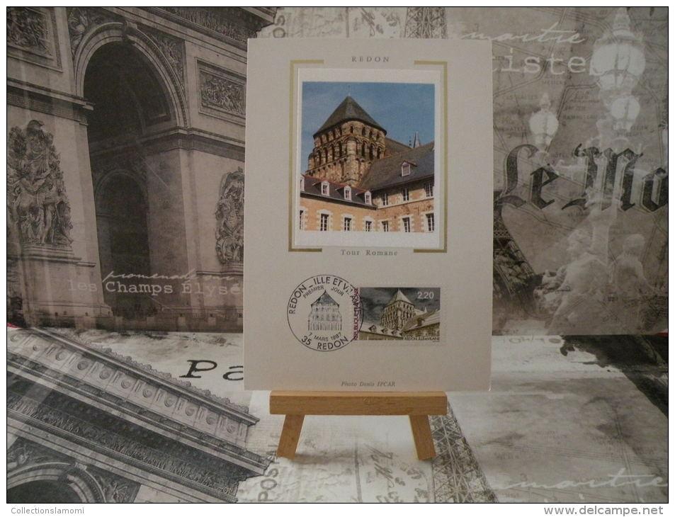 FDC- Carte Maxi, Tour Romane - 35 Redon - 7.3.1987 - 1er Jour, Coté 1,80 € - 1980-89