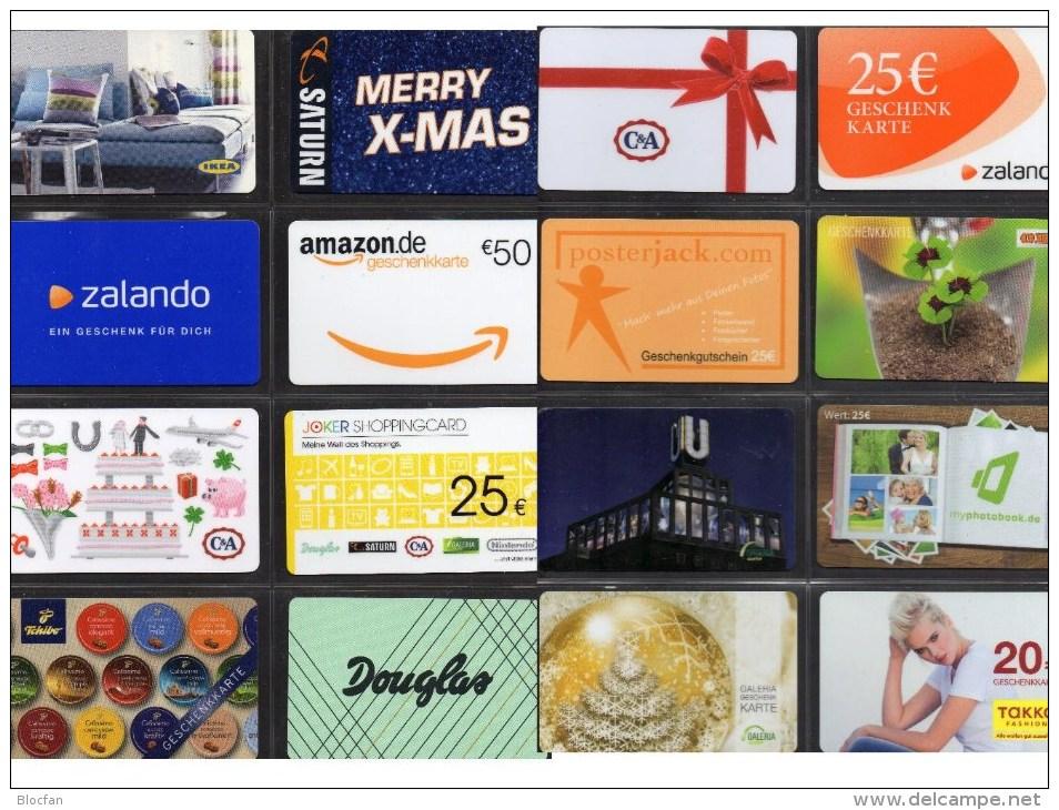 16 Cards Verschiedene Anbieter Geschenkkarten Deutschland New 18€ Unbenutzt OBI Takko Zalando Thalia Giftcard Of Germany - Other Collections