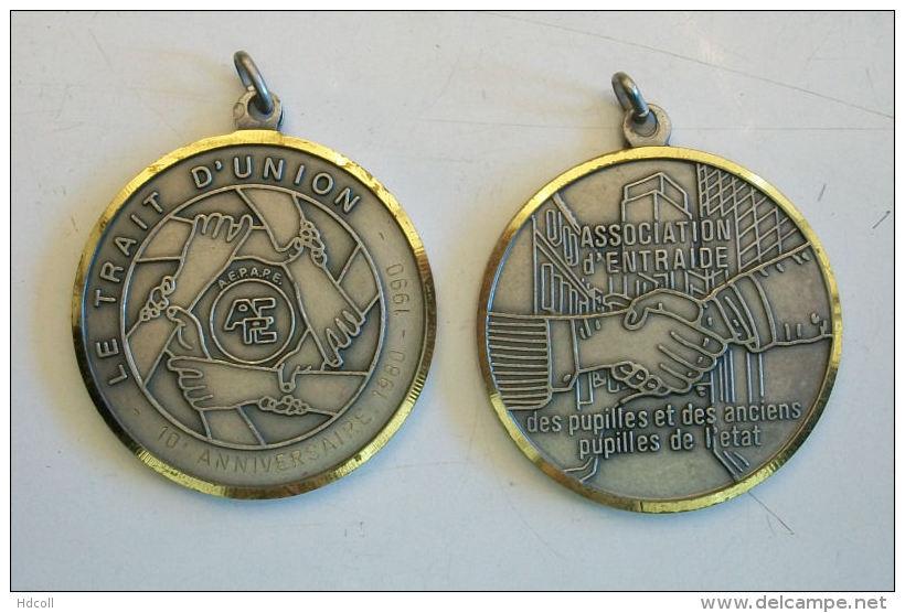 Médaille De Table LE TRAIT D'UNION « AEPAPE »  Pupilles De L'Etat - Frankreich