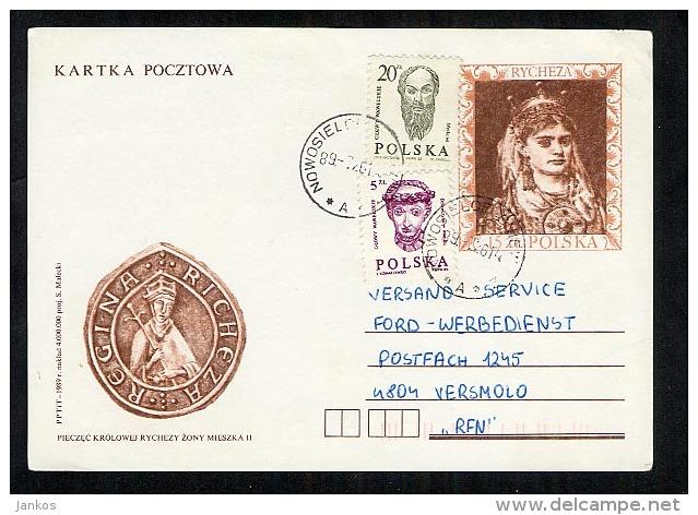 Poland Postal Stationery Postcard Used 1989  (Z067) - Stamped Stationery
