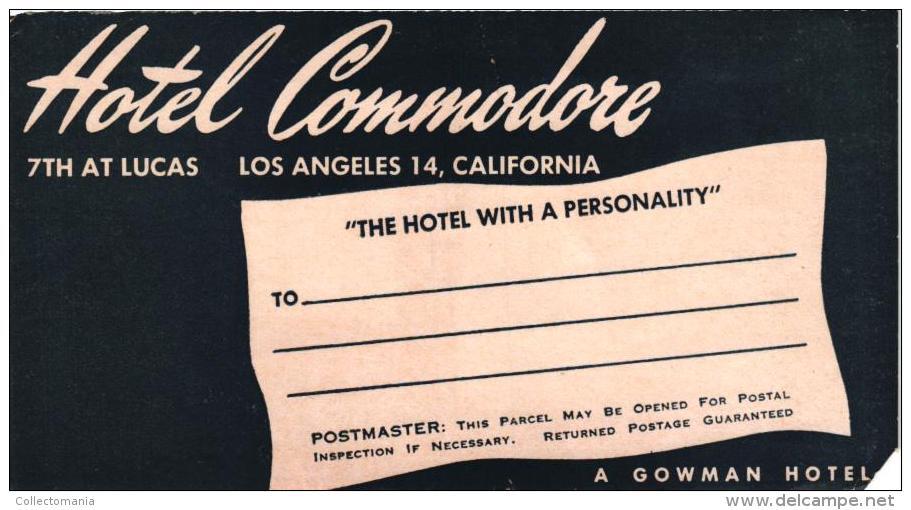 27 HOTEL LABELS USA  CALIFORNIA  Los Angeles Carmel Hollywood Beverley Hills Santa Barbara Oakland - Hotel Labels