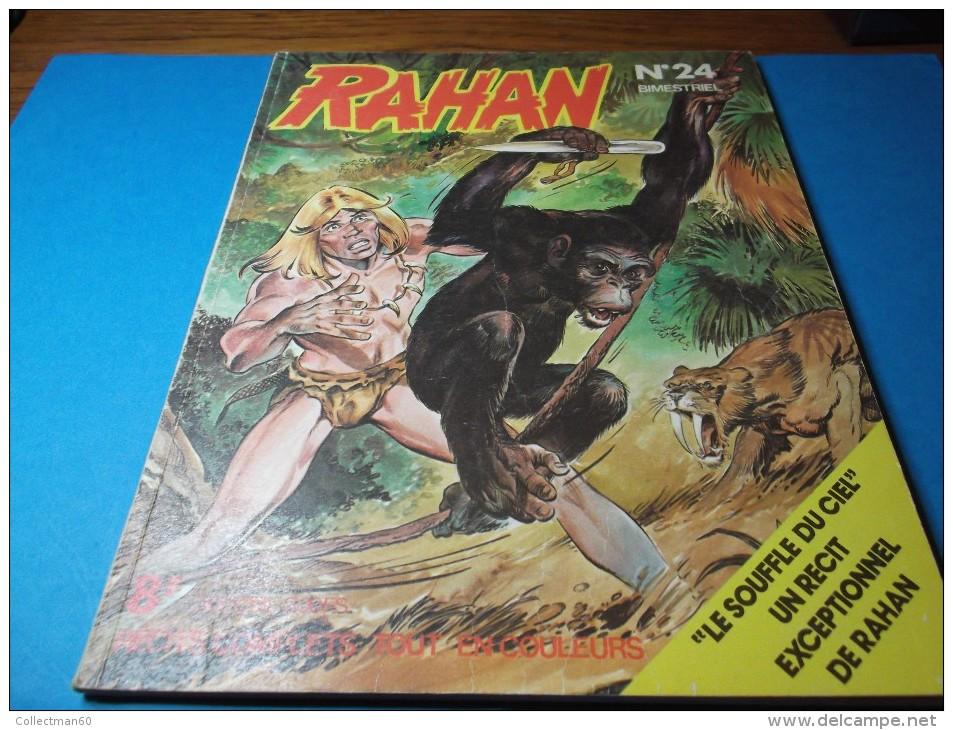 RAHAN   Bimestriel     N°  24          EDITIONS  VAILLANT                 Juin 1977 - Rahan
