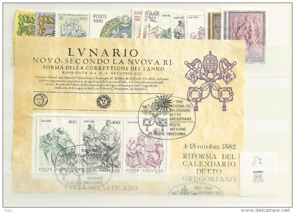 1982 USED Year Complete According To MIchel - Vatican