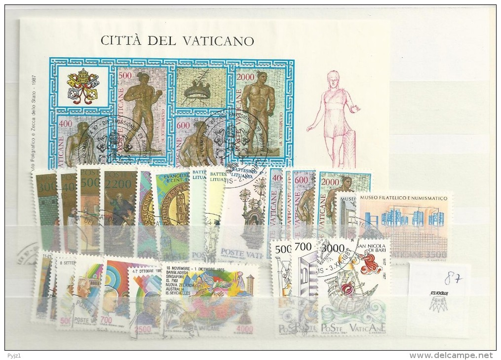 1987 USED Year Complete According To Michel - Used Stamps