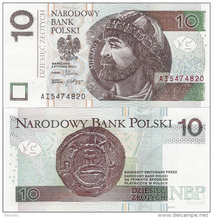 Poland 2012 - 10 Zlotych - Pick NEW UNC - Polen