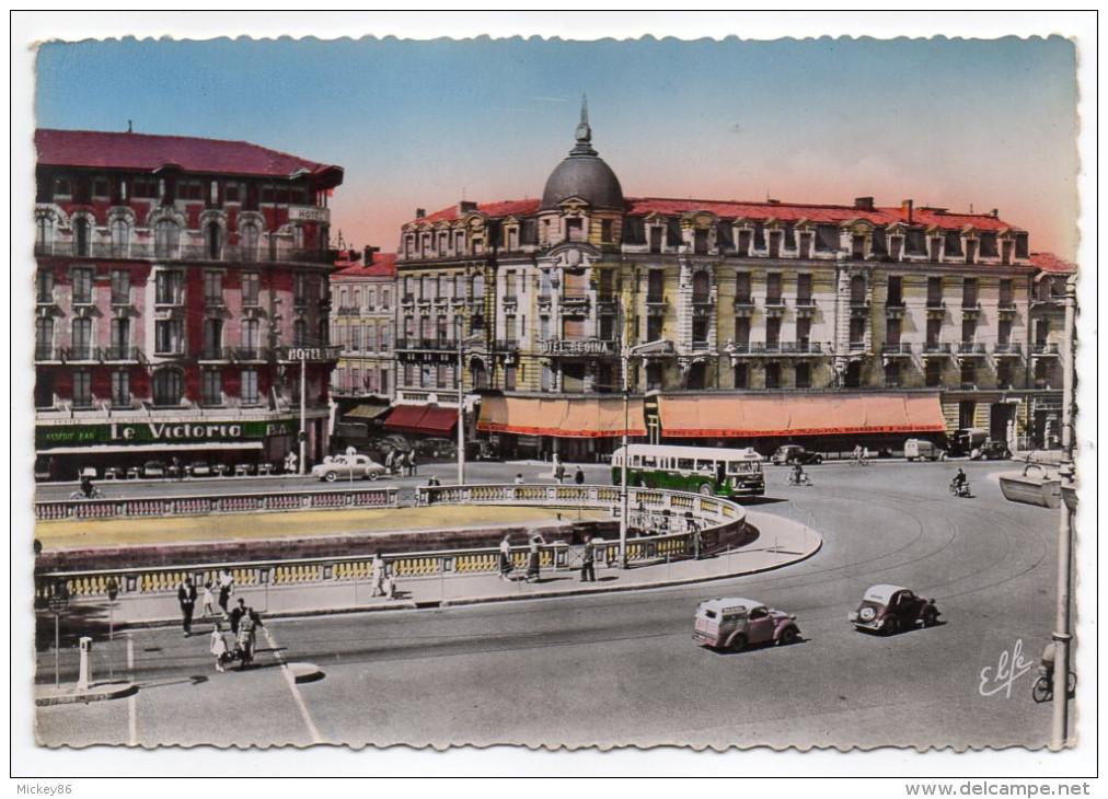 TOULOUSE-Les Hotels Devant La Gare Matabiau Et Entrée De La Rue Bayard (voitures,autocar)cpsm 15 X 10 N°192 éd Labouche - Toulouse