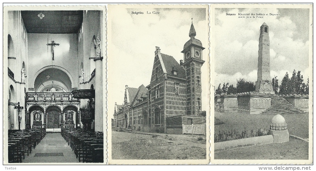 Soignies - 5 Cartes Postales - Soignies