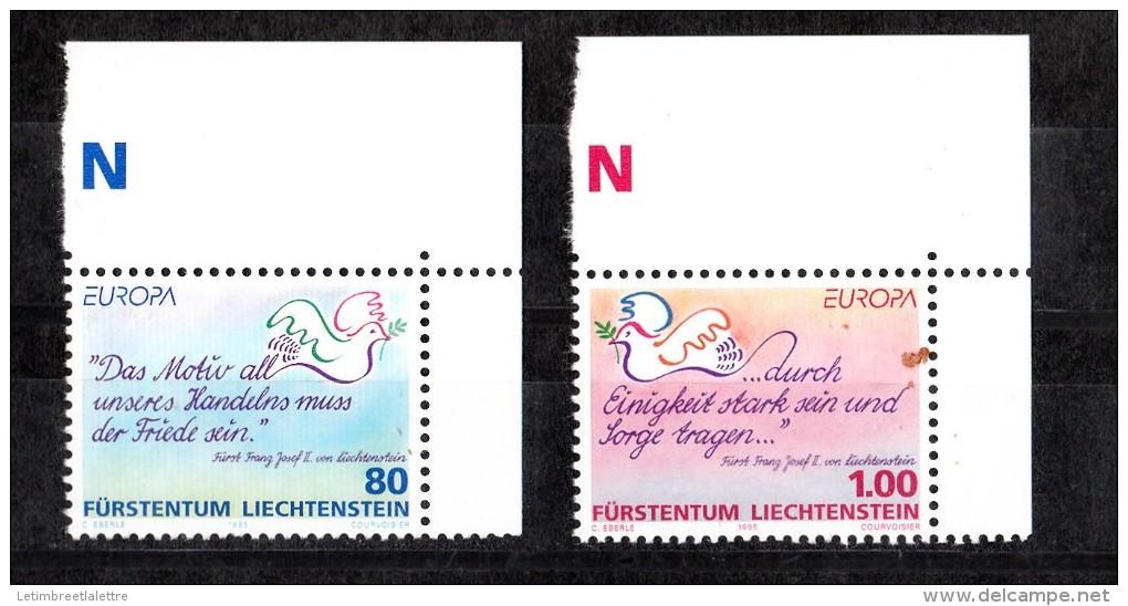 Liechtenstein N° 1044 ET 1045** - Liechtenstein
