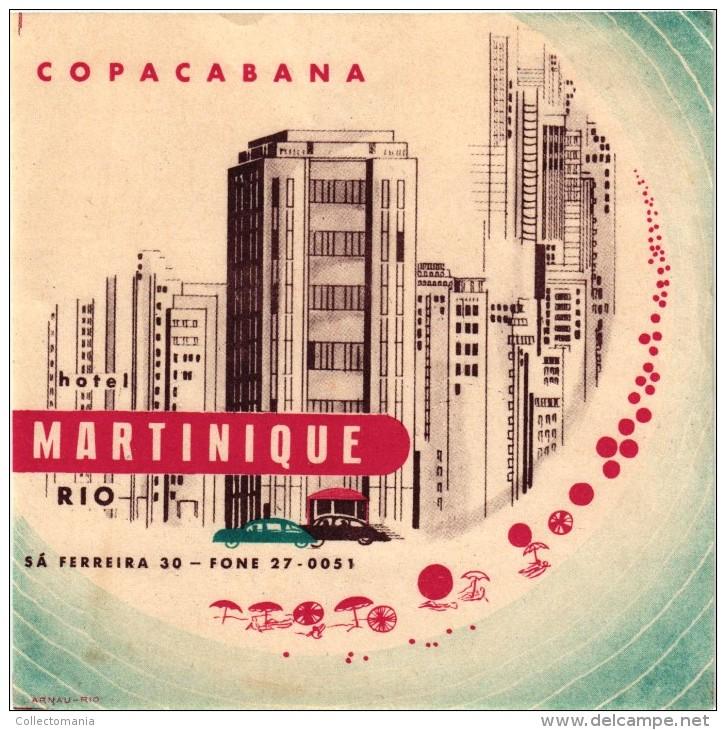 16 BRASIL  Rio De Janeiro Santa Catharina Rio Grande BELEM BOLIVIA CHILI Santiago Puerto Varas Osorno - Hotel Labels