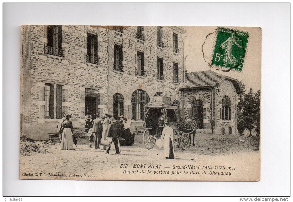 MONT-PILAT - Grand Hôtel - Départ De La Voiture Pour La Gare De Chavanay  (b) - Mont Pilat