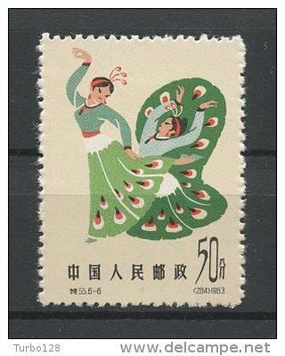 CHINE 1963 N° 1492 ** Neuf =  MNH  Superbe  Cote 16 € Danses Folkloriques Musique Music - 1949 - ... Repubblica Popolare