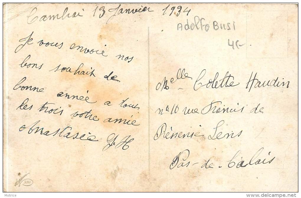 BUSI ADOLFO - Bonne Année, Portrait De Femme Style Art Nouveau (carte Vendue En L'état). - Busi, Adolfo