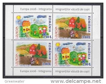Europa Cept 2006 Romania M/s ** Mnh (25515G) - Europa-CEPT