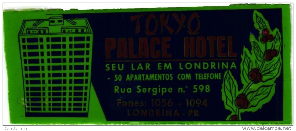 11 HOTEL Labels  JAPAN JAPON   TOKYO  Diamond Prince Okura Nikko  Fuji New Japan Palace Imperial - Hotel Labels